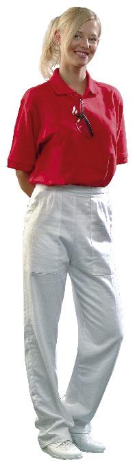 7aca341d177e Dámske biele nohavice DARJA - gombíky
