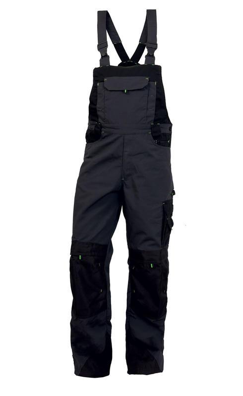 5c6e927a6bb7 Pánske nohavice na traky TRISTAN čierno-zelené