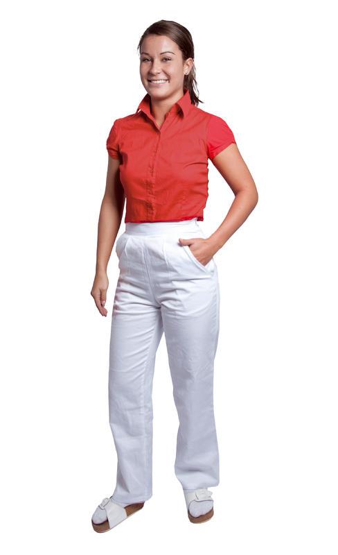 1da0e1065693 Dámske biele nohavice DARJA - guma